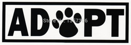 $enCountryForm.capitalKeyWord Australia - wholesale 20pcs lot Adopt Dog Cat Animal Adoption Paw Print For Car Window Sticker Truck Bumper Door Vinyl Decal 13 Colors 15.2*5cm