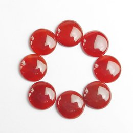 Round Agate Cabochon Australia - 10pcs Gorgeous Intriguing Interesting A* Red Agate Round CAB CABOCHON 20x6mm