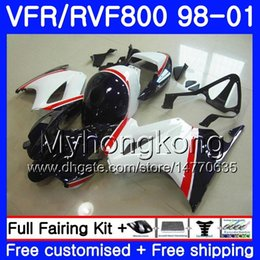honda vfr interceptor fairings UK - Dark blue white Body For HONDA Interceptor VFR800R VFR800RR 98 99 00 01 259HM.3 VFR800 VFR 800RR VFR 800 RR 1998 1999 2000 2001 Fairing kit