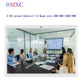 Ips Gps Quad Core Australia - Google tablet android 7.0 Quad core IPS 16GB ROM Bluetooth GPS tablet 10.1 inch BMXC Original 2.5D screen 3G Kids tablets 9 10
