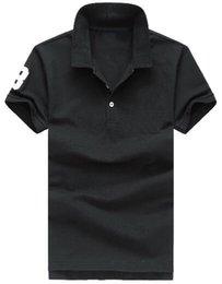 $enCountryForm.capitalKeyWord NZ - American Style Solid Polo Shirts for Men Brand Big Pony Print Fashion Classic Polos Cotton Tees White Black Red Green Pink