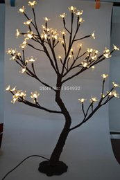 Led Light base online shopping - Indoor Outdoor LED Cherry Blossom Tree Light in cm Height with artifical nature trunk treatment Resin Base m lead wire