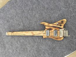 headless guitars 2019 - Musoo brand electric travel guitar headless guitar