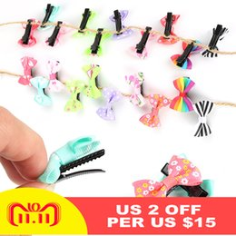 $enCountryForm.capitalKeyWord Australia - 10pcs Small Bow Barrettes Sweet Baby Kids Children Girls Solid Butterfly Knot Safety Hair Clips Beauty Hairpins Wholesale BTZ1