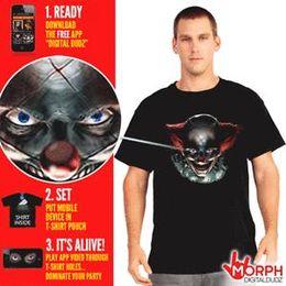 $enCountryForm.capitalKeyWord Australia - Digital Dudz Morph suit Freaky Clown Eyes T-Shirt T-Shirt Medium