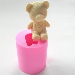 fondant bear mold Canada - Cute Bear Boy Girl Silicone Soap Mold Fondant Cake Decorating Tools Sugarcraft Cake Chocolate Mold Gum Paste Candle Moulds