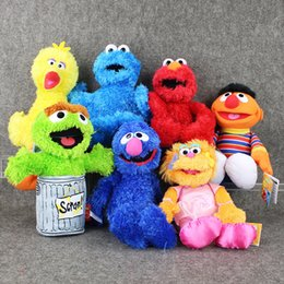 $enCountryForm.capitalKeyWord Australia - 7styles 27-40cm Cartoon Anime Sesame Street Elmo Oscar Cookie Grover Zoe Ernie Big Bird Stuffed Plush Toy Doll Children Gift Y19070103