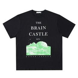 t shirt asap Australia - Hot Sale ASAP Rocky Hip Hop T shirt THE BRAIN CASTLE 2075 Print Black T-shirt Men Streetwear Tops New Design Overszied Tee Shirts HFLSTX505