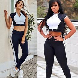 $enCountryForm.capitalKeyWord Australia - Summer Hot Fashion Women Tracksuit Clothes Set Body Shaper Sleeveless Crop Top+Slimming Waist Pants Leggings Slim Sport Sets
