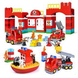 $enCountryForm.capitalKeyWord NZ - Diy Big Size City Fire Department Firemen Building Blocks Compatible With Major Brand Duploed Brick Toys For Baby Children MX190730