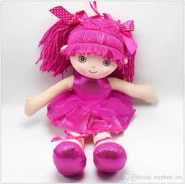 cute puppets UK - 3 Colors Cute Girls Ballet Dancing Dolls 40cm Dancing Girl Style Stuffed Soft Plush Figures Rag Dolls Children Christmas Birthday Gifts