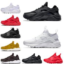 online store f0548 13793 Nouveau Huarache 4.0 1.0 Sneaker Pour Hommes Femmes Running Chaussures  Triple Noir Huaraches Baskets Respirables À L extérieur Chaussures Taille  36-45