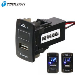 $enCountryForm.capitalKeyWord Australia - ar Electronics Accessories Cables, Adapters Sockets 5V 2.1A USB Interface Socket Car Charger and Voltage Meter Battery Monitor Use for Ho...