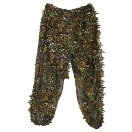 camouflage suits UK - 3D Leaf Adults Ghillie Suit Woodland Camo Camouflage Hunting Deer Stalking in