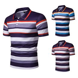 $enCountryForm.capitalKeyWord Australia - Striped Print Polo Shirt Men Summer Breathable Dry Fit Polos Shirts Men Slim Short Sleeve Camisa Masculina 1101-PL43