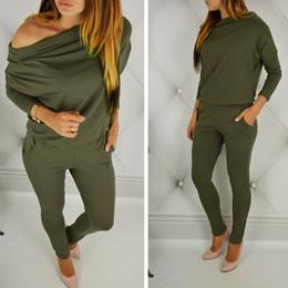 $enCountryForm.capitalKeyWord Australia - Women cotton long sleeve off shoulder jumpsuit Casual Rompers overalls for female women mid waist jumpsuits S M L XL