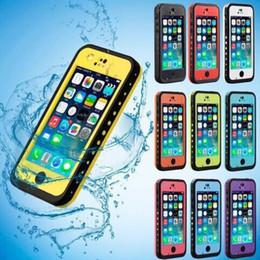 Purple Iphone Screens Australia - Full body Cases For Apple iPhone 5C Protective Case Waterproof Shockproof DirtProof bulit in Screen Protector