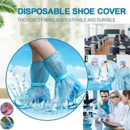 outdoor waterproof shoe covers Australia - High-Top Anti-Slip Shoe Covers Unisex Rain Shoe Covers Outdoor Rainy Day Waterproof Protector Shoes Boot Cover Overshoes FN60