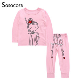 61bc7178c930 winter outfits for toddler girls 2019 - SOSOCOER Toddler Girl Clothing Set Long  Sleeve Cartoon Girls