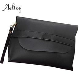 $enCountryForm.capitalKeyWord UK - Aelicy Simple fashion Flip Handbags Women soft Leather Small slim Crossbody single Shoulder Bag wrist strap messenger clutch Bag
