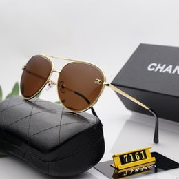 far sports Australia - High quality Brand Fashion Men Sunglasses UV Protection Outdoor Sport Vintage Women Sunglasses Retro Eyewear With box and cases 121