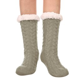 80450ff5666a6 MUQGEW 2019 winter warm socks socks for Women's Winter Super Soft Warm Cozy  Fuzzy Fleece-lined Christmas Gift With Gripp#y4