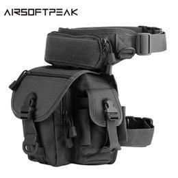 Reebow Tactical Outdoor Tactical Huning Waist Drop Leg Bag Multi-functional 1000d Nylon Swat Sports Running Bag Relojes Y Joyas