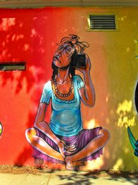 $enCountryForm.capitalKeyWord Australia - Cartoon Art The Man Is Listening,Oil Painting Reproduction High Quality Giclee Print on Canvas Modern Home Art Decor