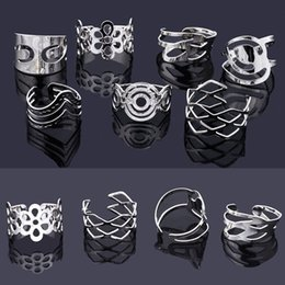 289498a7c 50Pcs Mix Style Vintage Alloy Gypsy Adjustable Finger Tattoo Rings Toe Ring  Lots For Women Men Wholesale Jewelry