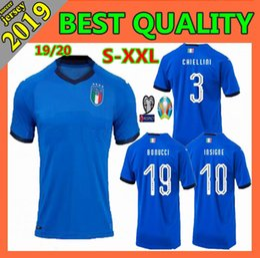 3ca2858aa2e Size S-XXL 2019 NEW italy Soccer Jersey 19 20 European Cup BONUCCI IMMOBILE  INSIGNE CANEREVA CHIELLINI buffon Football shirts
