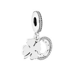 $enCountryForm.capitalKeyWord Australia - Lucky Clover Dangle Alloy Charm For Pandora Bracelet Snake Chain Or Necklace Fashion Jewelry Loose Bead