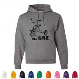 LoL hoodie online shopping - KiUnisex It Old School Funny Retro Tricycle Funny Throw BaUnisex LOL Hoodies