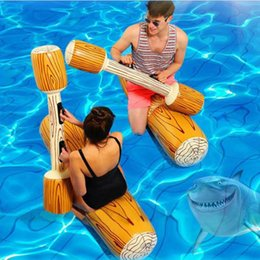 $enCountryForm.capitalKeyWord Australia - Hot Sale 4 Pieces Summer Joust Pool Float Game Inflatable Water Sports Bumper Toy For Adult Children Party Gladiator Raft Kickboard Piscina