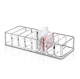 sale cosmetics box Australia - Hot Sale Acrylic Cosmetics Makeup Organizer Show Shelf Rack Durable Desk Nail Polish Lipstick Storage Box Desk Organizer