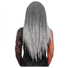 ombre braiding hair 16 inches UK - Hair 30strands 14 16 18 20 22 Ombre Senegalese Twist Hair 100 Real Kanekalon Crochet Braids Hair Extensions 1pack  Lot