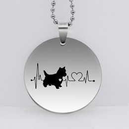 ad0354bf7 PAW PRINT Stainless Steel West Highland Heartbeat Dog Pendant Necklace Westie  Dog Jewelry YLQ6194
