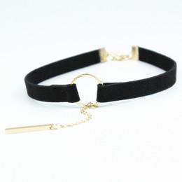 AsiAn strip online shopping - Nice Pendant Choker Necklace Black Velvet Belt Strip Tassel Chains Women Jewelry Vintage Round Choker Necklace Collar Jewelry x178