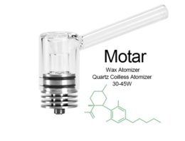 Atomizer Attachment Australia - High Quality Dry-burning Vape Atomizer Motar 510 Thread Glass Mouth Heating Chamber Attachment Quartz Coilless for ecig atomizers