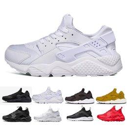 c0447d0a9513 whole sale 2019 Cheap mens air huarache shoes black casual shoes women  fashion casual huaraches ultra classical size 36-45