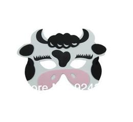 Cow Masks Australia - KIDS ANIMAL MASK FOAM EVA FANCY DRESS PINNATA LOOT PARTY BAG FILLERS TOYS COW