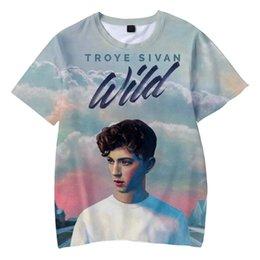 $enCountryForm.capitalKeyWord Australia - 2019 NEW 3D Troye Sivan Print Casual Harajuku Childrens summer t-shirts Hot Sale boys girls Short Sleeve t-shirts Plus