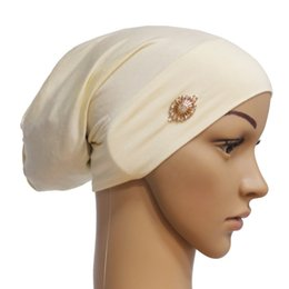 Discount chemo cap - JAYCOSIN New 2018 Women Muslim Stretch Turban Hat Chemo Cap Hair Loss Head Scarf Wrap Cap Dropship Nov.25