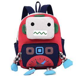 $enCountryForm.capitalKeyWord Australia - Cartoon 3d Robot Shape Kid Backpacks Baby Child Cute Toddler School Travel Bag Kindergarten Cool Boys Small Backpack Mochila Y19062401