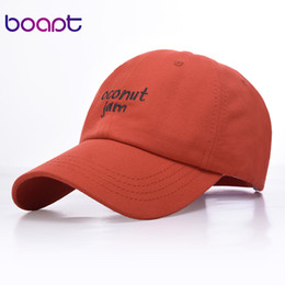1625cce3 Letter COCONUT Embroidery baseball caps for men women casual dad hat  adjustable fashion cap Unisex Summer Sport Snapback Hats