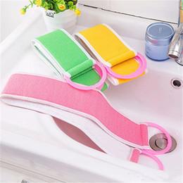 $enCountryForm.capitalKeyWord UK - Loofah Bath Massage Strap Loofah Back Strap Bath Towel Body Back Exfoliating Bath Scrub Strap Cleaning Wash Scrubber Bathroom Accessories