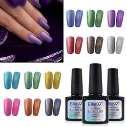 Hybrid Gel NZ - 10ml Rainbow Gel Varnish UV LED Nail Gel Polish Metallic Top Coat Nail Art Bling Gel Nal Hybrid Lacquer Gellak Stamping