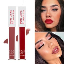 cosmetic nude Canada - 1PC Nude Velvet Waterproof Matte Lip Glaze Long Lasting Multi-colored Lipstick Tint Lip Gloss Women Cosmetics Basic Makeup Tools