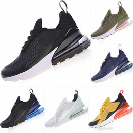 hot m max shoe Australia - 2019 270 Parra Hot Sale Air Blue Mens Women Running Shoes Triple on max White Red Olive Volt Habanero 27C Flair 270s Sneakers EUR36-45