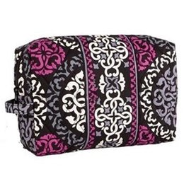 big makeup bags NZ - NWT Flower Pattern Cotton Women Laday Big Cosmetic Cases makeup bag