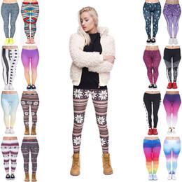$enCountryForm.capitalKeyWord NZ - Woman Leggings Mix 16 Styles Arabesque Digital Star Stripe USA Rainbow Ombre Winter Nordic Christmas Trees 3D Print Sportwear Pants (Y026)